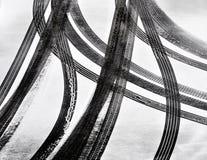 Pistas del neumático de coche Foto de archivo