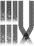 Pistas del neumático de Grunge Imágenes de archivo libres de regalías