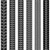 Pistas del neumático de la colección Sistema de 6 pedazos Imagen de archivo