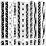 Pistas del neumático del vector Foto de archivo