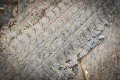 Pistas del neumático en la arena Imágenes de archivo libres de regalías