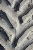 Pistas del neumático en llave de la siesta Fotos de archivo