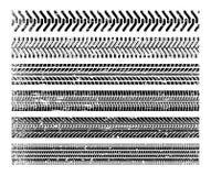 Pistas del neumático fijadas stock de ilustración