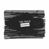 Pistas del neumático Las pistas del neumático texturizan la bandera aislada en el fondo blanco libre illustration