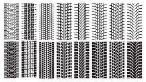 Pistas del neumático, rastro de la rueda Stock de ilustración