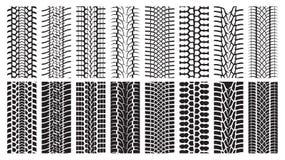 Pistas del neumático, rastro de la rueda Imágenes de archivo libres de regalías