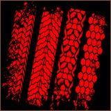 Pistas del neumático - sistema del vector Fotos de archivo