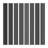 Pistas del neumático Sistema inconsútil de la impresión de la textura negra de goma del camino del coche del rastro del motocrós  libre illustration