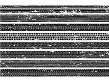 Pistas del neumático del vehículo Colección auto de la textura de la impresión del rasguño del camino del rastro del rastro de la libre illustration