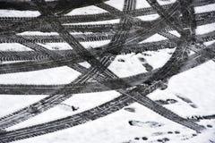 Pistas del neumático Fotos de archivo libres de regalías