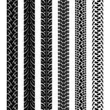 Pistas del neumático de la motocicleta de la colección, textura inconsútil Imagenes de archivo