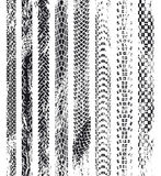 Pistas del neumático del Grunge Fotografía de archivo libre de regalías
