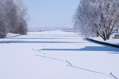 Pistas del patinaje de hielo Fotografía de archivo