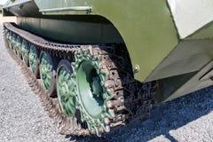 Pistas del primer moderno del vehículo de lucha acorazado Fotos de archivo