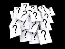 Pistas del signo de interrogación Fotografía de archivo libre de regalías