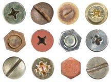 Pistas del tornillo y de tornillo Fotografía de archivo libre de regalías