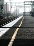 Pistas del tren Fotografía de archivo