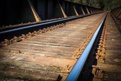 Pistas del tren Fotografía de archivo libre de regalías