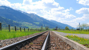 Pistas del tren Foto de archivo