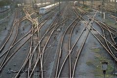 Pistas del tren en Munich imagen de archivo libre de regalías