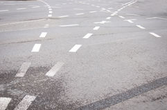 Pistas do asfalto Imagens de Stock