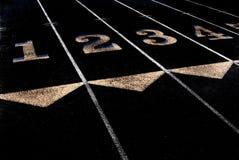 Pistas do exercício e da aptidão da trilha a correr Imagens de Stock Royalty Free