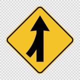 Pistas do símbolo que fundem o sinal esquerdo no fundo transparente ilustração do vetor