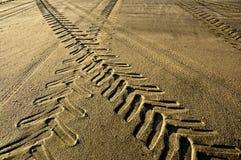 Pistas en la arena. imagenes de archivo