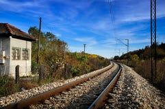 Pistas ferroviarias Fotos de archivo