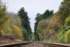 Pistas ferroviarias foto de archivo