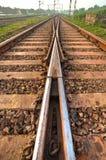 Pistas ferroviarias Fotos de archivo libres de regalías