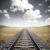 Pistas ferroviarias Foto de archivo libre de regalías