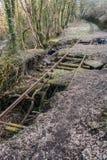 Pistas ferroviarias abandonadas Foto de archivo