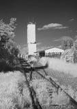 Pistas ferroviarias a almacenar Foto de archivo libre de regalías