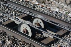 Pistas ferroviarias de Furnicular Fotos de archivo