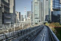 Pistas ferroviarias de Tokio Foto de archivo libre de regalías