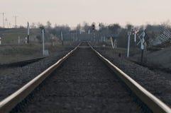 Pistas ferroviarias en Polonia Fotografía de archivo libre de regalías