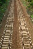 Pistas ferroviarias paralelas Imágenes de archivo libres de regalías