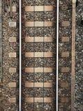 Pistas ferroviarias vacías foto de archivo