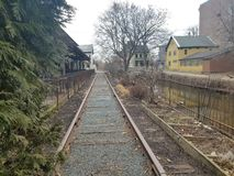 Pistas ferroviarias vacías fotos de archivo