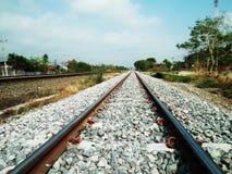Pistas ferroviarias vacías Fotos de archivo libres de regalías