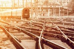 Pistas ferroviarias vacías Imágenes de archivo libres de regalías