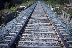 Pistas ferroviarias vacías Imagenes de archivo