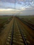 Pistas ferroviarias vacías Imagen de archivo