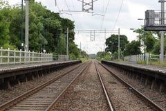 Pistas ferroviarias vacías Fotografía de archivo