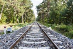 Pistas ferroviarias vacías Imagen de archivo libre de regalías