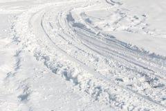 Pistas nevosas simples del neumático - retrato Imagen de archivo libre de regalías