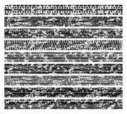 Pistas sucias del neumático del grunge, marcas de la pisada de la bici del fango aisladas en la colección blanca del vector Foto de archivo libre de regalías