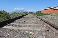 Pistas viejas del tren Fotografía de archivo