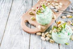 PistazienEiscreme gelato stockbild